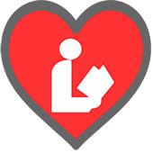 Library Love heart